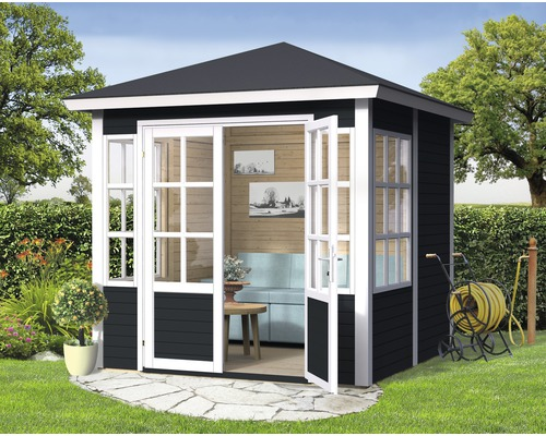 gartenhaus villa mit fu boden 234x226 cm anthrazit bei hornbach kaufen. Black Bedroom Furniture Sets. Home Design Ideas