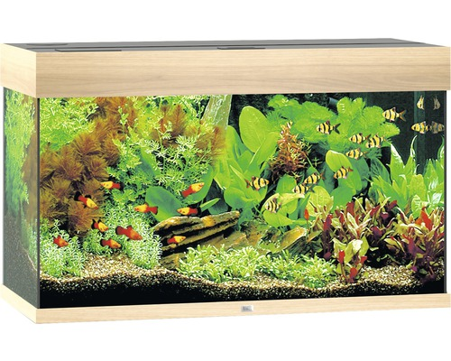aquarium juwel rio 125 mit led beleuchtung pumpe filter heizer ohne unterschrank helles holz. Black Bedroom Furniture Sets. Home Design Ideas