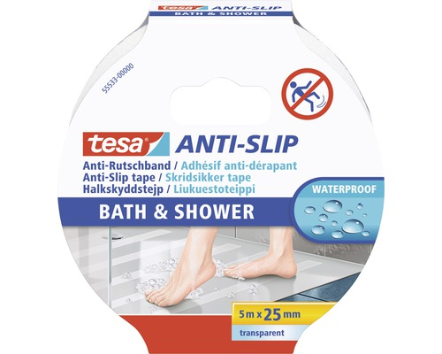 tesa® ANTI-SLIP Bad & Dusche transparent