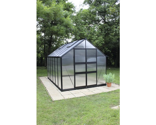 gew chshaus eden greenhouses blockley 814 6 mm doppelstegplatten mit fundament 441x256 cm. Black Bedroom Furniture Sets. Home Design Ideas