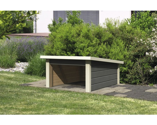 m hrobotergarage karibu 2 78x96x49 cm terragrau bei hornbach kaufen. Black Bedroom Furniture Sets. Home Design Ideas