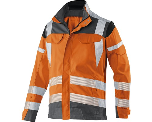 Warnjacke orange/anthrazit Gr. 48