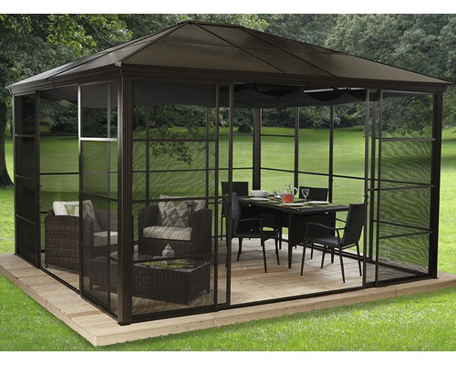 pavillon sojag castel 12x14 mit moskitonetz 410x345 cm bronze bei hornbach kaufen. Black Bedroom Furniture Sets. Home Design Ideas