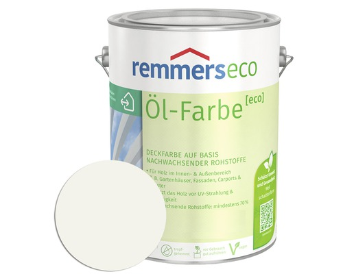 Remmers Eco Ol Farbe Holzfarbe Ral 9016 Weiss 5 L Bei Hornbach Kaufen