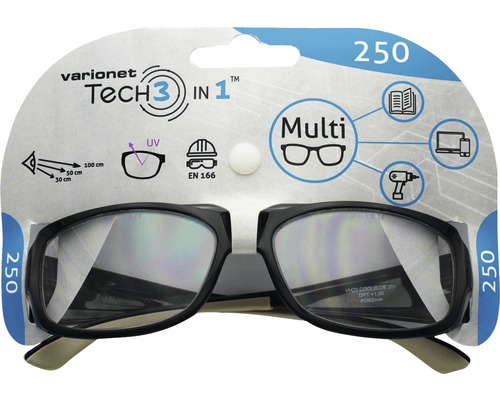 Varionet Tech 3in1 Brille +2,5 Dioptrien