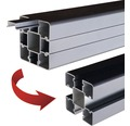 Zaunpfosten-Set Ultrashield WPC 8x8x190 cm anthrazit