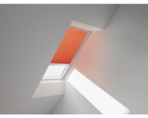 VELUX Plissee-Faltstore uni orange solarbetrieben FSL UK04 1273S