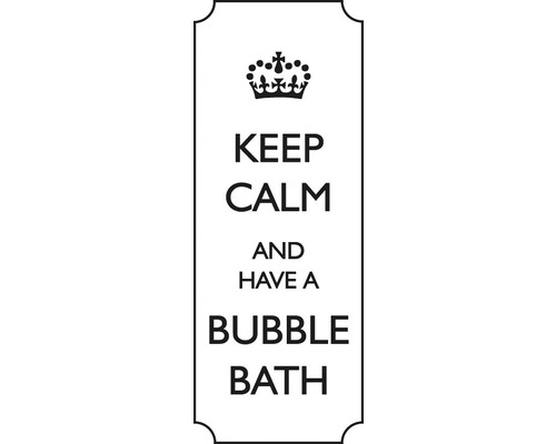 "Stempel ""Keep calm and have a bubble"""