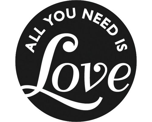 """Label """"All you need is Love"""", 45mm"""