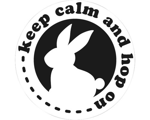 """Label """"keep calm and hop on"""", 45mm"""