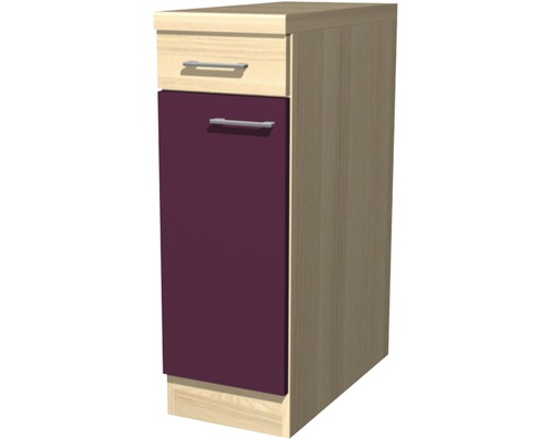 unterschrank focus breite 30 cm akazie dekor aubergine bei hornbach kaufen. Black Bedroom Furniture Sets. Home Design Ideas