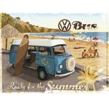 Blechschild VW Ready for a hot summer 30x40 cm