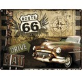 Blechschild Highway 66 Road Trip 30x40 cm