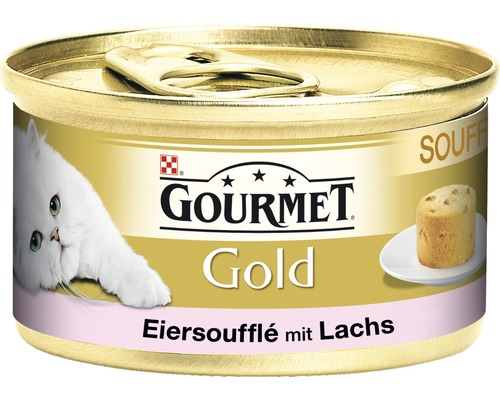 katzenfutter nass gourmet gold souffle mit lachs 85 g bei hornbach kaufen. Black Bedroom Furniture Sets. Home Design Ideas