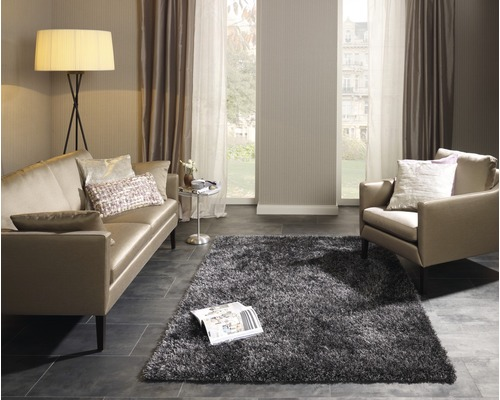 barbara becker teppich shag emotion grau 140 x 200 cm bei hornbach kaufen. Black Bedroom Furniture Sets. Home Design Ideas