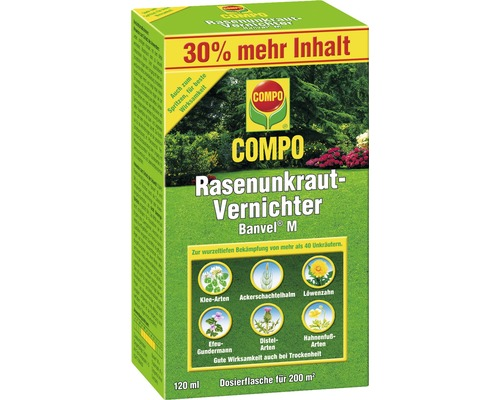 rasenunkrautvernichter banvel m compo 120ml bei hornbach. Black Bedroom Furniture Sets. Home Design Ideas