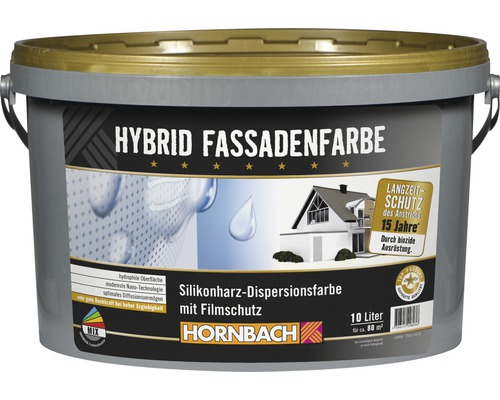 hybrid fassadenfarbe wei 10 l bei hornbach kaufen. Black Bedroom Furniture Sets. Home Design Ideas