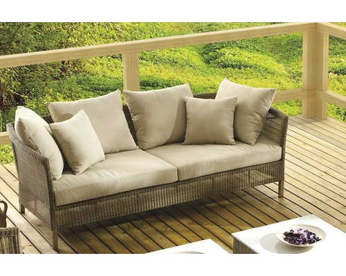 loungesofa destiny martinique polyrattan 3 sitzer beige. Black Bedroom Furniture Sets. Home Design Ideas