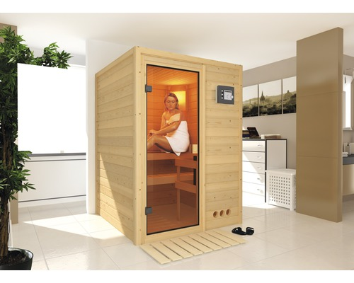 plug play sauna calienta zirkon i inkl 3 6 kw bio ofen und dachkranz bei. Black Bedroom Furniture Sets. Home Design Ideas
