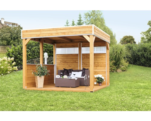pavillon skan holz toulouse mit aufschraubst tzen 302x302 cm natur bei hornbach kaufen. Black Bedroom Furniture Sets. Home Design Ideas