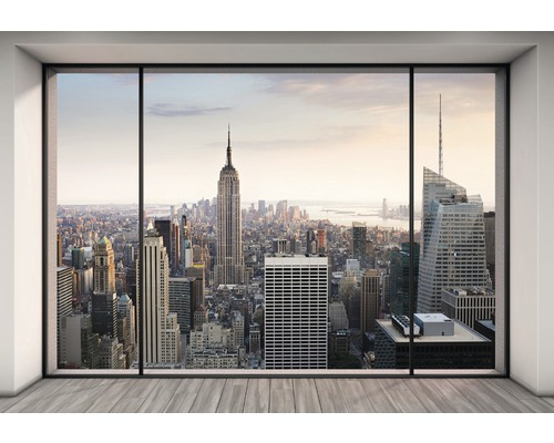 fototapete vol 15 papier new york penthouse 368 x 254 cm. Black Bedroom Furniture Sets. Home Design Ideas