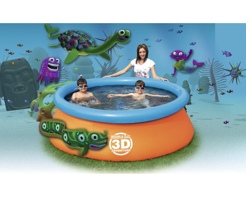 Planschbecken bestway 3d adventure pool 213x66cm bei for Hornbach pool set