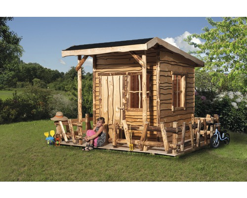 spielhaus weka mecki holz mit veranda natur bei hornbach. Black Bedroom Furniture Sets. Home Design Ideas