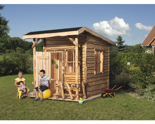 spielhaus weka mecki rustikal holz natur bei hornbach kaufen. Black Bedroom Furniture Sets. Home Design Ideas