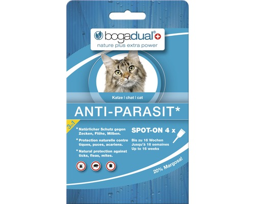bogadual Anti-Parasit Spot-On Katze 4 x 0,75 ml