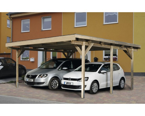 doppelcarport weka a1 duo 500x500 cm kesseldruckimpr gniert bei hornbach kaufen. Black Bedroom Furniture Sets. Home Design Ideas