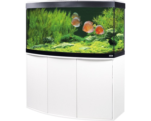 aquariumkombination fluval vicenza 260 mit led beleuchtung heizer filter und unterschrank wei. Black Bedroom Furniture Sets. Home Design Ideas
