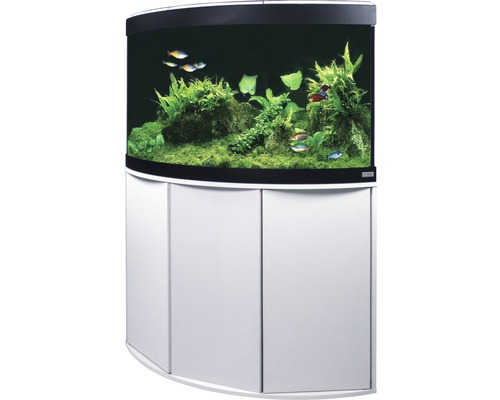 aquariumkombination fluval venezia 190 mit led beleuchtung heizer filter und unterschrank wei. Black Bedroom Furniture Sets. Home Design Ideas