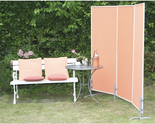 paravent 3 teilig terracotta 170x210cm bei hornbach kaufen. Black Bedroom Furniture Sets. Home Design Ideas