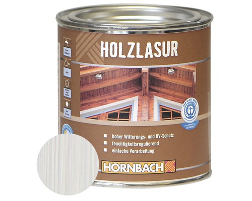 holzlasur wei 375 ml bei hornbach kaufen. Black Bedroom Furniture Sets. Home Design Ideas