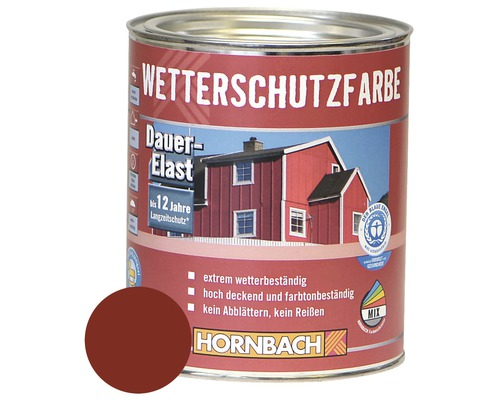 holzfarbe wetterschutzfarbe schwedenrot 750ml bei hornbach. Black Bedroom Furniture Sets. Home Design Ideas