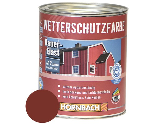 holzfarbe wetterschutzfarbe rotbraun 750ml bei hornbach kaufen. Black Bedroom Furniture Sets. Home Design Ideas