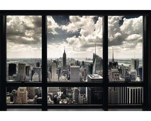 poster new york window 61x91 5 cm bei hornbach kaufen. Black Bedroom Furniture Sets. Home Design Ideas