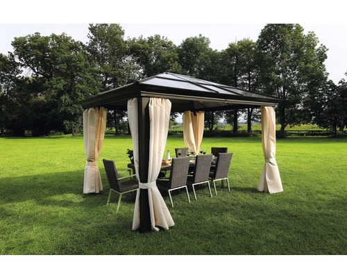 pavillon sinaia 3 65x3x2 7 m polycarbonat braun bei. Black Bedroom Furniture Sets. Home Design Ideas