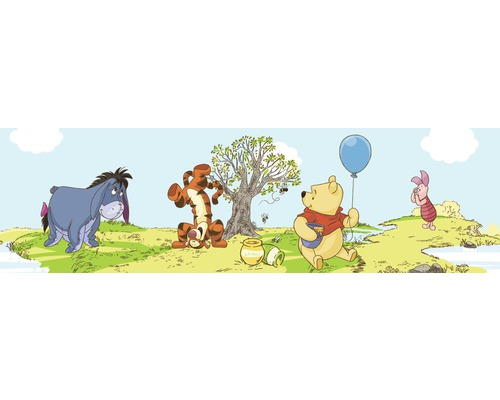 Hornbach Selbstklebende Tapete : GRAHAM Sonstige – Bord?re Kids@Home Pooh Bother Free Days blau 5 m x