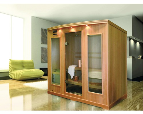 plug play sauna helo tana 121x131x203 cm inkl 3 kw ofen bei hornbach kaufen. Black Bedroom Furniture Sets. Home Design Ideas