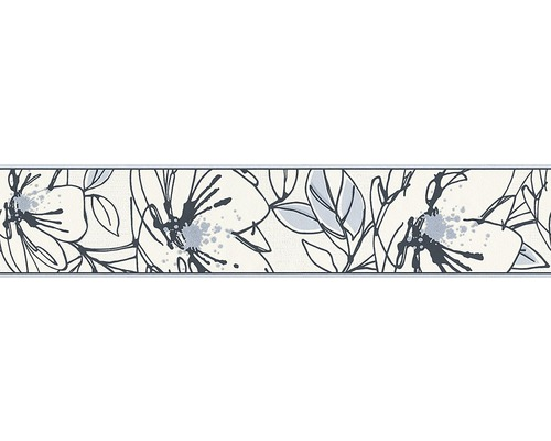 Hornbach Tapeten Bord?re : Bord?re Only Borders 8 Floral blau silber bei HORNBACH kaufen