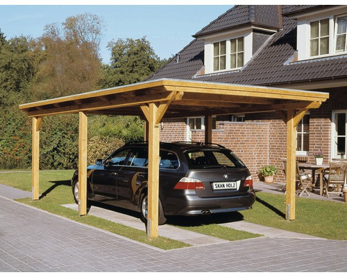 einzelcarport skan holz emsland 354x604 cm mit epdm folie. Black Bedroom Furniture Sets. Home Design Ideas
