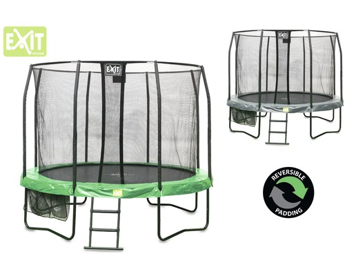 trampolin exit jump arena all in 1 mit sicherheitsnetz 305 cm grau gr n bei hornbach kaufen. Black Bedroom Furniture Sets. Home Design Ideas