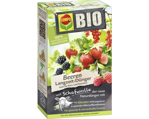 bio beeren langzeit d nger compo mit schafwolle 2 kg bei hornbach kaufen. Black Bedroom Furniture Sets. Home Design Ideas