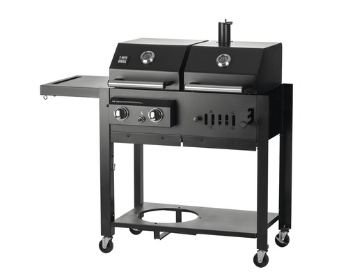 twingrill chef centre gas und holzkohlegrill t 30 bei hornbach kaufen. Black Bedroom Furniture Sets. Home Design Ideas
