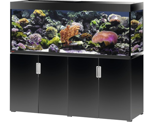 aquariumkombination eheim incpiria marine 500 mit led beleuchtung f rderpumpe und unterschrank. Black Bedroom Furniture Sets. Home Design Ideas