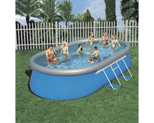 Fast set pool ovalbecken 610 x 366 cm h he 122 cm bei for Hornbach pool