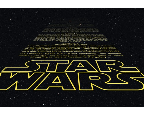 Tapeten Kinderzimmer Star Wars : Fototapete Disney Edition 2 Star Wars Intro 368 x 254 cm bei HORNBACH