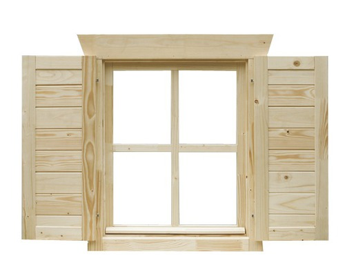 fensterl den skan holz f r 28 mm blockbohlenhaus 1 paar. Black Bedroom Furniture Sets. Home Design Ideas