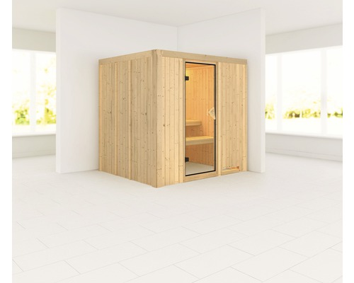 plug play sauna karibu maria ohne ofen und dachkranz bei hornbach kaufen. Black Bedroom Furniture Sets. Home Design Ideas